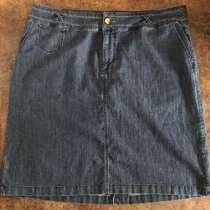 CJ Banks Denim Skirt Size 18W Blue